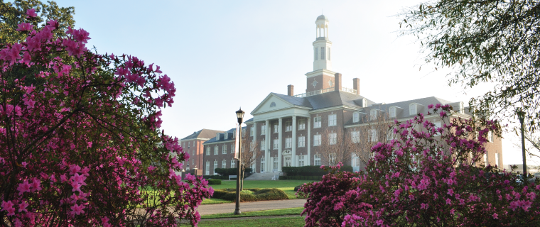 Jewett Hall during spring season