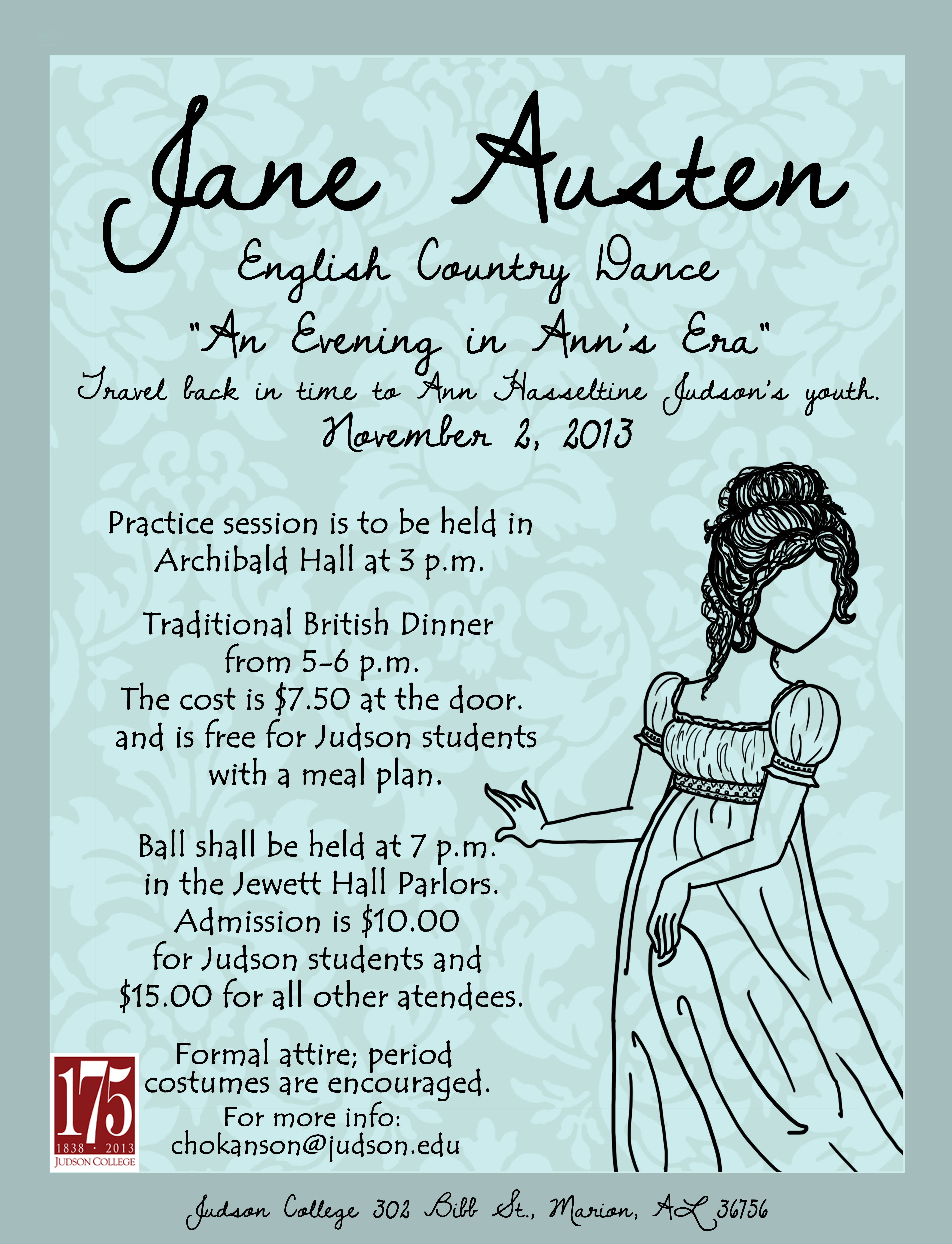 Jane Austen English Country Dance poster | Judson College - Marion