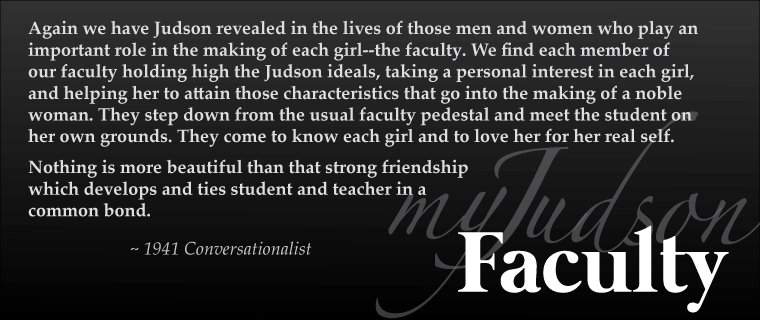 MyJudson Faculty header image