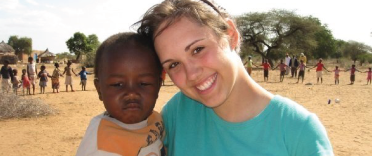 student in her missionary work in uganda