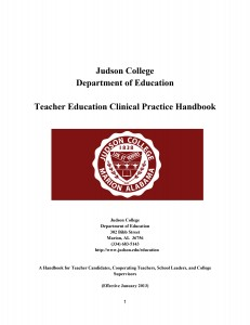 Teacher Education Clinical Practice Handbook
