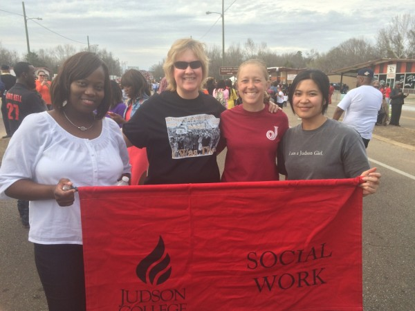 Left to right:  Y'tenna Howard, Angela Dennison, Anna Henderson, and Haley Pham
