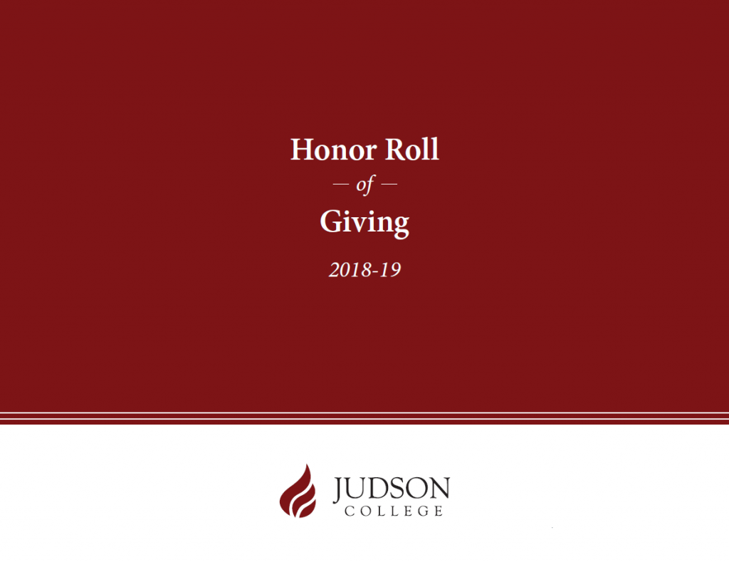 2018-19 Honor Roll of Giving