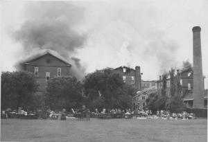 Jewett Fire July 1947, Back campus.